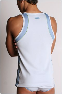 2xist Fusion Tank Top White/Blue