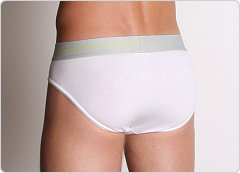 2xist Liquid Cotton No Show Brief White