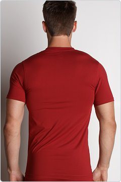 2xist Metal V-Neck Shirt Cranberry