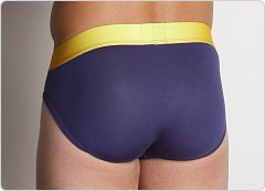 2xist Optic No-Show Brief Crown Navy