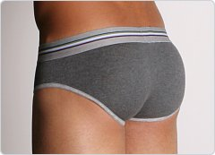 2xist Retro No-Show Brief Charcoal