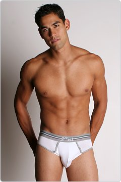 2xist Retro No-Show Brief White