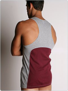2xist Retro Racer Back Tank Burgundy