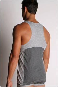 2xist Retro Racer Back Tank Charcoal