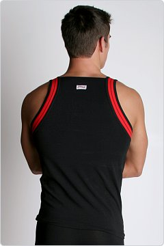 2xist Track Square Cut Tank Black