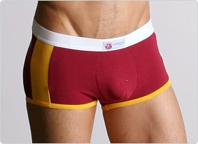 American Jock Racer Square-Cut Brief Cardinal/Gold