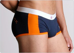 American Jock Racer Square-Cut Brief Navy/Orange