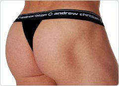 Andrew Christian Almost Naked Thong Black