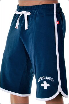 Andrew Christian Classic Lifeguard Shorts Navy