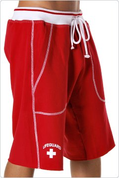 Andrew Christian Lifeguard Training Shorts Red