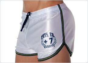 Andrew Christian Phys Ed Dazzle Short White