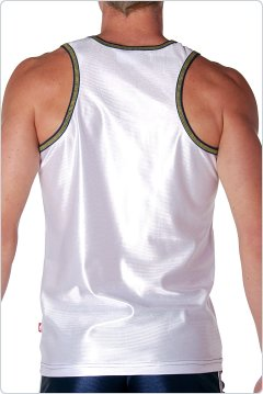 Andrew Christian Phys Ed Dazzle Tank White
