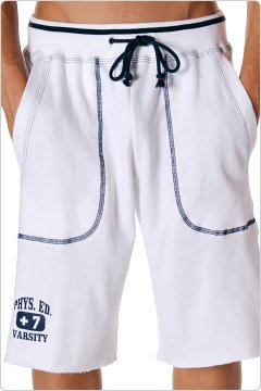 Andrew Christian Phys Ed Training Shorts White