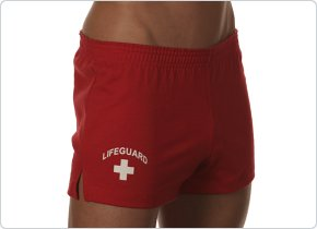Andrew Christian Red Lifeguard Shorts