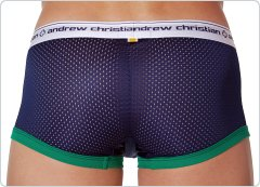 Andrew Christian Sports Mesh Boxer Navy