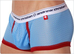 Andrew Christian Sports Mesh Boxer Sky Blue