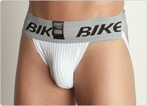 Bike 3-Inch Waistband Jockstrap 2-Pack White