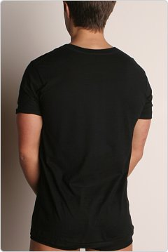 C-IN2 Core V-Neck Pima Tee Black