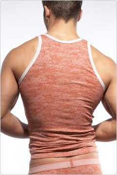 C-IN2 Hand Me Down Ringer Tank Top Mascot Orange