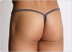 California Muscle Teaser Thong Charcoal