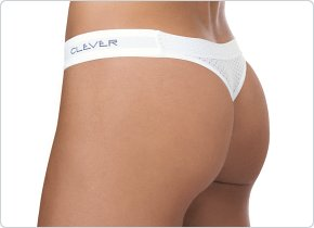 Clever Mesh Thong White