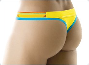 Clever Sporty Thong Yellow