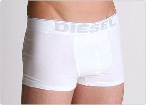 Diesel Cotton Stretch Breddo Boxer White