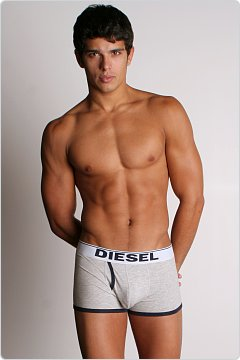Diesel New Breddox Boxer Grey