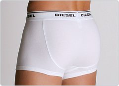 Diesel New Brettu Cotton Stretch Boxer White