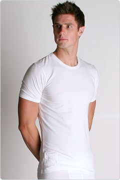 Diesel Tapetee Cotton Stretch Crew Neck Shirt White