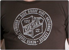 Diesel Volley League Frisby Shirt Brown