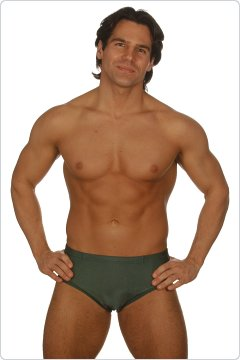 Edge Forest Green Lycra Briefs