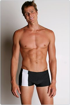Go Softwear C-Ring Swim Trunks Black/White