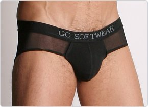 Go Softwear Low Cut Mesh Brief Black