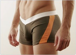 Go Softwear Military Orange V-Front Slash Boxer