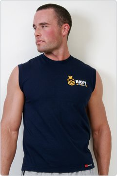 Go Softwear Navy Muscle Tee