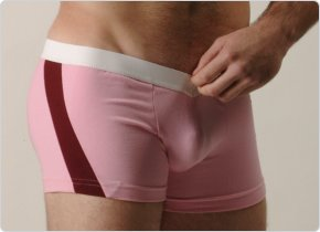 Go Softwear Pink and Burgundy V-Front Slash Boxers