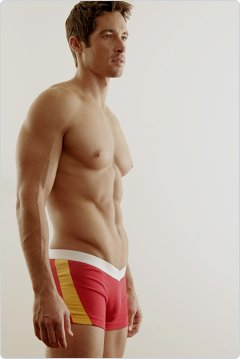 Go Softwear Red and Gold V-Front Slash Boxers