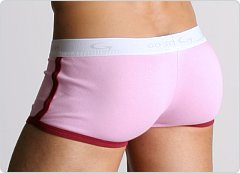 Go Softwear Retro Shorts Pink/Burgundy