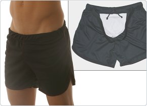 Go Softwear Shorts with Built-in Jock Black