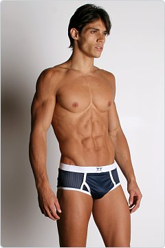 LA Sporting Club Athletic Mesh Brief Navy