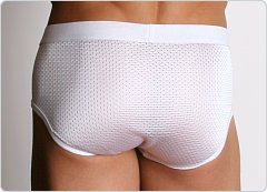 LA Sporting Club Athletic Mesh Brief White