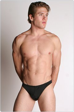 LASC Men's Lycra Swim Thong Black