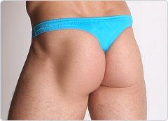 LASC Men's Lycra Swim Thong Turquoise
