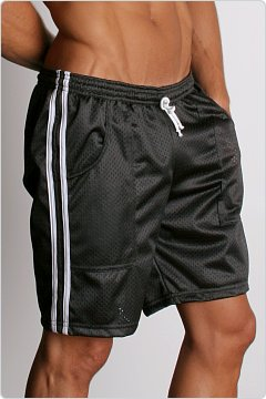 LASC Mesh Sports Shorts Black