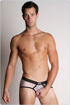 LASC Open Weave Mesh Briefs White