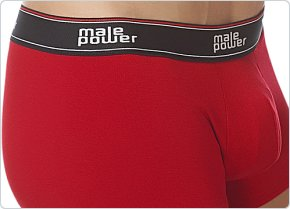 Male Power Cotton Lycra Pouch Short Red