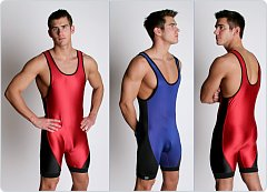 Matman High-Cut Lycra Reversible Wrestling Singlet