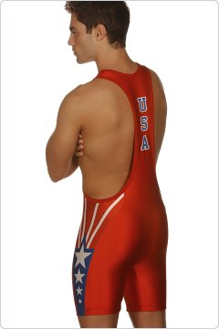 Matman Red Sydney Low Cut Jam Singlet