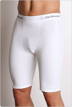 McDavid Deluxe Compression Shorts White